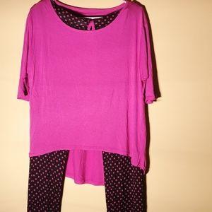 Lissome, 2 piece pajamas, Size Small